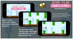 Easy to reskin and customise - Bird Flap Challenge Game Starter Kit allows you to create a unique Flappy Bird - style game for iPhone, in minutes!