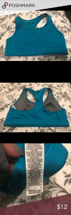 Women's Nike sports bra bnc Brand new condition. Wore once. Bright teal/blue Nike sports bra size small Nike Intimates & Sleepwear Bras
