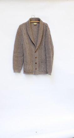 Irish Fishermans wool cardigan WindingRoadVintage
