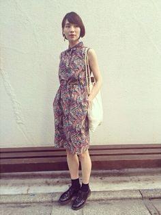 珠里亜│SHIPS for womenのワンピースコーディネート-WEAR
