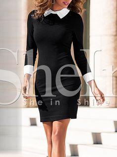 Shop Black White Lapel Bodycon Dress online. SheIn offers Black White Lapel Bodycon Dress & more to fit your fashionable needs.