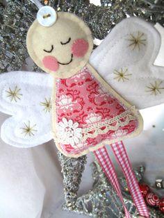 Pretty Pink Angel Decoration via Etsy.