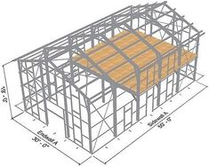 Steel Metal Home Shell Kit 2400 sq ft barn shed prefab storage Metal Shop Building, Steel Building Homes, Building A Shed, Building Exterior, Building Plans, Metal Barn Homes, Pole Barn Homes, Shed Plans, House Plans