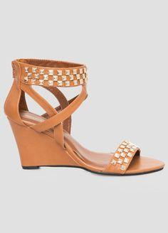 Studded Wedge Sandal - Wide Width Studded Wedge Sandal - Wide Width