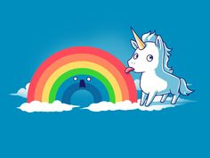 Not exactly what we were expecting at the end of the rainbow. Get the Tasty Rainbow t-shirt only at TeeTurtle!