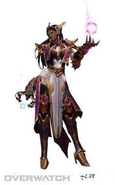 symmetra diablo 3 wizard (Li Ming) skin #Syming #overwatch #skin #symmetra #diablo 3 #li ming #heroes of the storm #overwatch skins #concept art