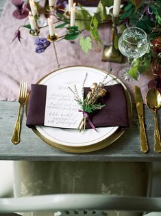 Winter is officially here but we just couldn't resist this autumnal inspiration shoot from fine art photographer Theresa Furey.  The team combined rich seasonal tones of mustard and marsala, Pantone's colour for 2015, with armfuls of organic florals and folliage with gold tableware and luxurious details. Featuring produce taken straight from the land, including freshly...  Read more »