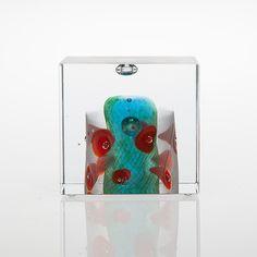 Glass Design, Paper Weights, Finland, Cube, Glass Art, Objects, Birds, Sculpture, Inspiration