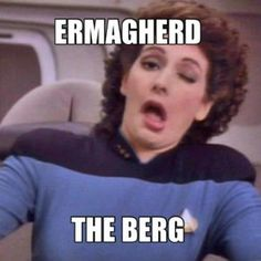 This picture always makes me giggle, despite the fact that never liked Deanna Troi.