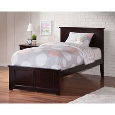 Atlantic Madison Espresso Bed with Matching Footboard