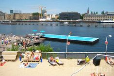 Berlin's Floating Arena Badeschiff Swimming Pool is the City's Coolest Spot for Summer | Inhabitat - Green Design, Innovation, Architecture, Green Building