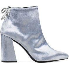 Stuart Weitzman GRANDY BOOTIE ($645) ❤ liked on Polyvore featuring shoes, boots, ankle booties, booties, silver, short boots, silver boots, stuart weitzman, ankle boots and silver booties