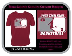 PERSONALIZE Your School/Team Basketball - T-shirts by ReeseLaurenCouture on Etsy