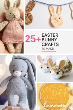 Bunny Crafts, Easter Crafts, Easter Decor, Easter Crochet Patterns, Knitting Patterns, Crafts To Make, Diy Crafts, Family Crafts, Adult Crafts