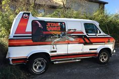 Polish up those pocket protectors and fire up those plastic, battery-powered lightsabers, this is one cool van! This is a 1979 Dodge Star Wars tribute van and it's on Craigslist in Lago Vista, Texas, just northwest of the. Customised Vans, Custom Vans, Star Wars Vans, Dodge Van, Old School Vans, Best Barns, Star Wars Vehicles, Cool Vans, Vintage Vans