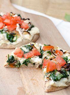 Perfect Whole Wheat Pizza Crust for a Spinach Artichoke Dip Pizza