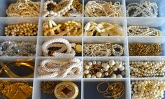 Use inexpensive see-through storage containers found in the hardware department at Wal-Mart to store your necklaces, bracelets and earrings.