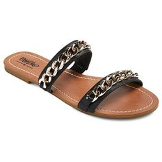 Women's Kodi Slide Sandals - Black 8 : Target