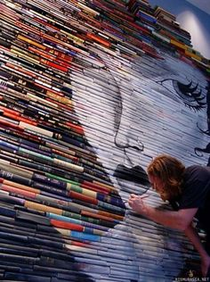 A Lot of books, a lot of creativity.