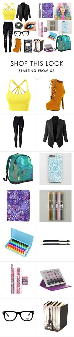 """""""Chapter 1: finding others"""" by ali-swan-288 on Polyvore featuring LE3NO, Bonnibel, Hot Tuna, Vera Bradley, Cross, M-Edge, Muse and Dot & Bo"""