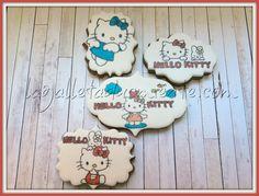 Galletas pintadas a mano Hello Kitty.