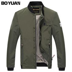 2017 High Quality Army Green Bomber Jackets Men's Casual Zipper Jacket Winter and Autumn Men Sportswear Overcoat Plu Size Men's Coats And Jackets, Fall Jackets, Army Jackets, Casual Jackets, Bomber Jackets, Green Bomber Jacket, Men's Jacket, Men Casual, Mens Fashion