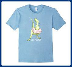 Mens Funny Ballet Shirt-Balletsaurus Dinosaur Ballet T shirt Medium Baby Blue - Animal shirts (*Amazon Partner-Link)