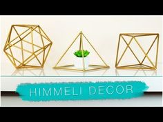 Create your own himmeli home decorations with the help of some straws! ↓↓ MORE INFO DOWN HERE ↓↓ I am obsessed with geometric & gold himmeli room decor!