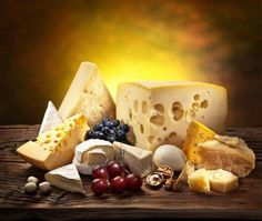 Different types of cheese over old wooden table. File contains clipping paths. Chefs, Cheese Store, Cake Stock, Types Of Cheese, Fruit Illustration, American Cheese, Cheese Lover, Marmite, Decoupage Vintage