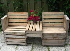 Diy pallet furniture instructions pallet bench garden benches for your backyard pallet patio furniture instructions diy pallet bench instructions Wooden Pallet Projects, Wooden Pallet Furniture, Pallet Crafts, Pallet Chair, Pallet Seating, Outdoor Seating, Pallet Benches, Timber Furniture, Crate Bench