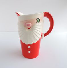 Vintage Holt Howard Winking Santa Pitcher 1950s by TheLogChateau