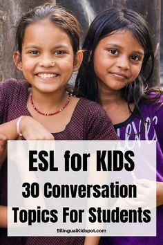 30 ESL English Conversation Topics for Students & Young Learners Learning English For Kids, Kids English, English Language Learning, Language Lessons, Learn A New Language, Teaching English, Learn English, English Grammar, English Conversation For Kids