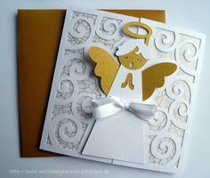 Gate Fold Karte mit Engel Silhouette Store by Daniela Angelova Design-ID #97342