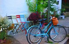 Bikes and Chairs by pjpink, via Flickr