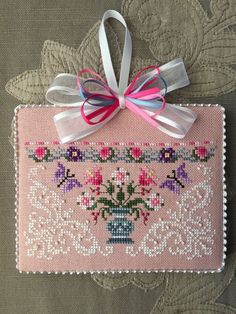Just Nan Finished Cross Stitch Ornament Queen of The Needle | eBay