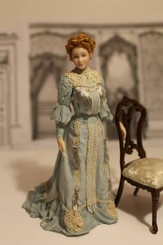 Lady Jane - 1:12 scale Miniature Lady of the house. Amazing Detail!!