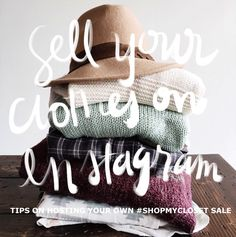 How to sell your clothes on #Instagram / always rooney #yardsale