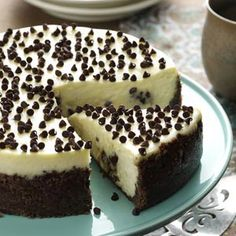 Chocolate Chip Cookie Dough Cheesecake Recipe from Taste of Home - I created this recipe to combine two of my all-time favorites, cheesecake for the grown-up in me and chocolate chip cookie dough for the little girl in me.  --Julie Craig, Kewaskum, Wisconsin