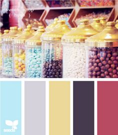 All the colors I like - Blue, grey, yellow, purple, and pink - but slightly different shades. Too many colors for wedding?