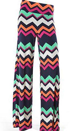 You Zig, I Zag… Have a little summer F-U-N in these palazzo pants! #palazzopants #chevron #FashionBlvd