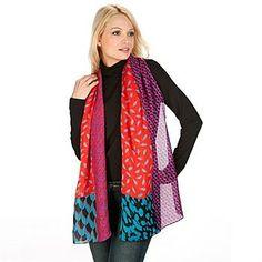 See when Diane von Furstenberg New Boomerang Mixed Print Silk Scarf is on sale - TrackIf