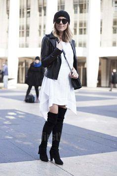 New York Fashion Week Fall/Winter 2014 street style.