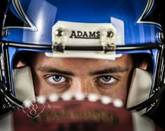 high school senior portrait, football