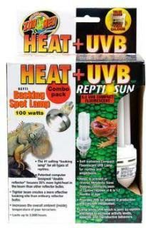 ZooMed Heat & UVB Combo Pack 100 Watts