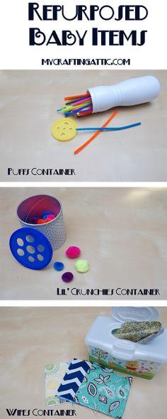 Repurposed Baby items - My Crafting Attic