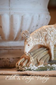 Vintage Chalkware Sheep Statue by edithandevelyn on Etsy, $75.00