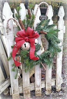 Christmas Home Decor Gifts opposite Christmas Decorations Ideas For Church case Christmas Decorations On Sale At Home Depot. Homemade Christmas Table Decorations from Christmas Tree Shop Danbury Ct Christmas Porch, Prim Christmas, Outdoor Christmas Decorations, Winter Christmas, Christmas Holidays, Christmas Wreaths, Christmas Ornaments, Winter Porch, Fence Decorations