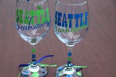 $24 for the set of Seattle Seahawks wine glasses