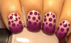 ombré with dots