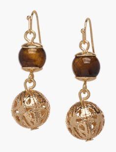 Mixed-Bead Drop Earrings - Talbots